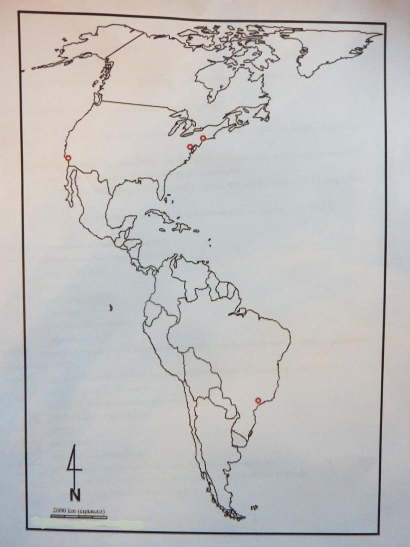 Carte Amerique Puissance Du Nord Affirmation Du Sud.Fonds De Carte Et Croquis